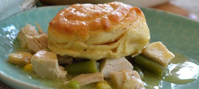 Kid-Friendly Easy Biscuit-Topped Chicken Pot Pie