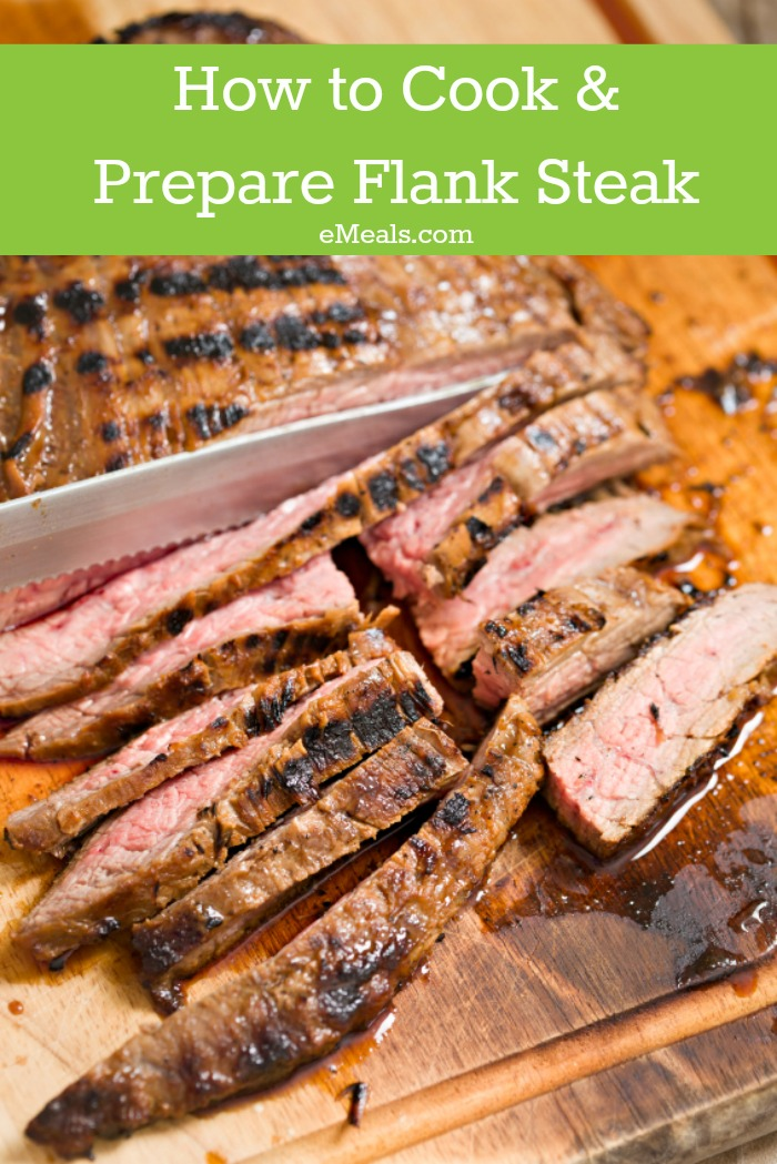 How to cook and prepare flank steak, how to cut with the grain and more!