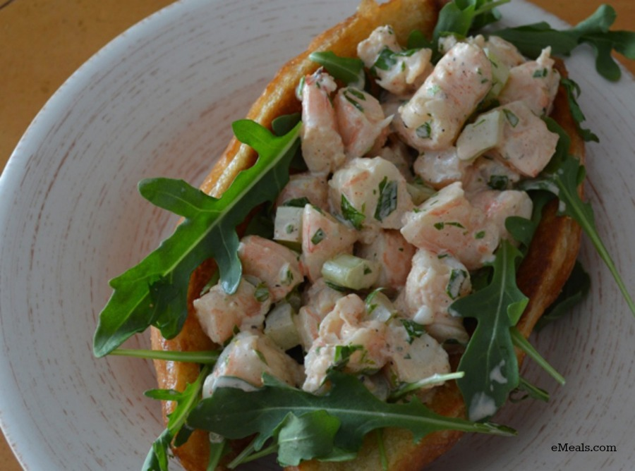 Clean Eating Shrimp Roll