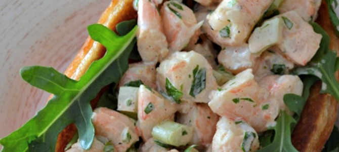 Clean Eating Shrimp Roll