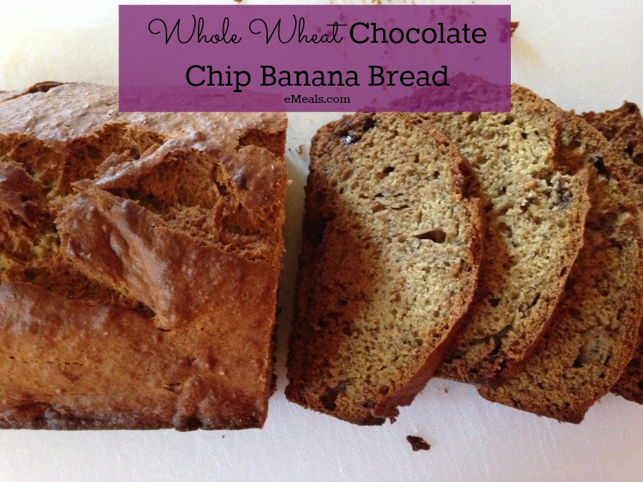Whole Wheat Chocolate Chip Banana Bread