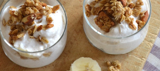 Banana Bread Greek Yogurt Parfait