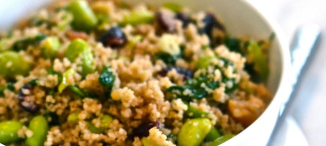 Low Calorie Dinner Recipe: Citrusy Couscous and Edamame Salad