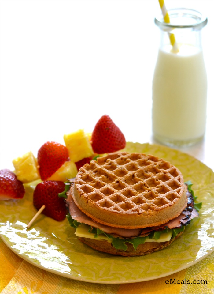 Ham and Cheese Waffle Sandwich | eMeals