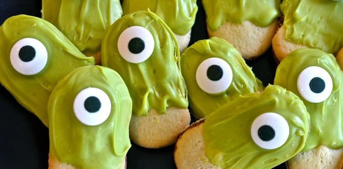 Despicable Me-Inspired Monster Eyes Halloween Cookies