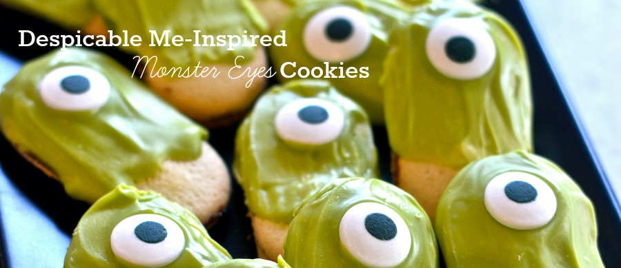 Despicable Me-Inspired Halloween Monster Eyes Minion Cookies | eMeals