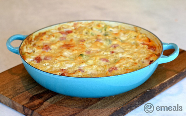 emeals Kid-Friendly Mac and Cheese Veggie Bake