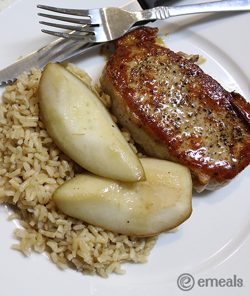 Honey-Balsamic Pork with Roasted Pears | eMeals