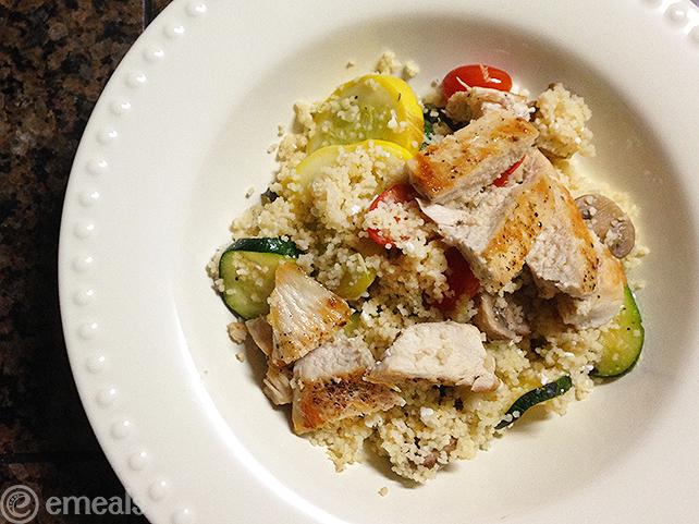 Mediterranean Chicken-Veggie Couscous | eMeals