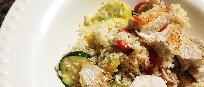 Mediterranean Chicken-Vegetable Couscous Toss