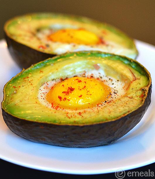 Paleo Breakfast Baked Eggs and Avocado | eMeals
