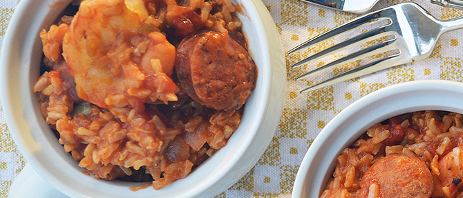 Football Favorite: Clean Eating Shrimp and Sausage Pilau