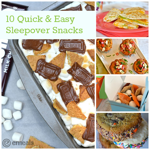 10 Quick and Easy Sleepover Snacks | The eMeals Blog