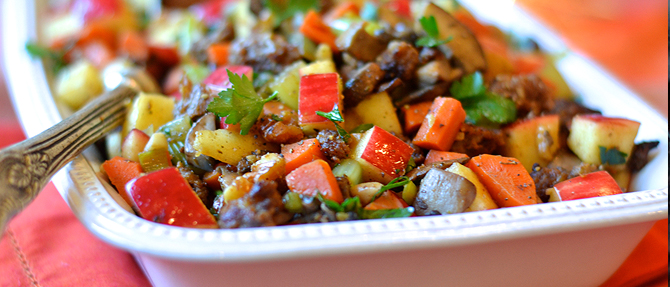 Paleo Sausage, Mushroom and Apple Dressing for Thanksgiving or Christmas