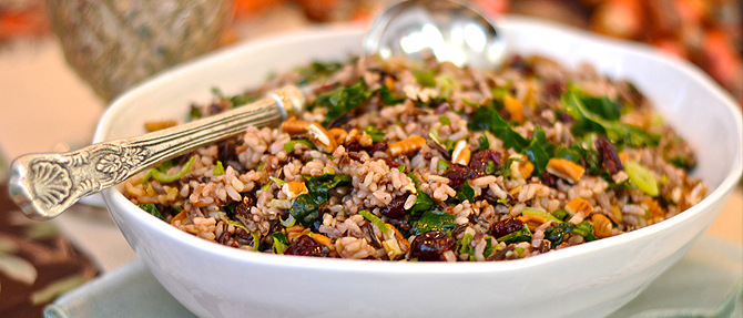 Clean Eating During the Holidays: Warm Brown Rice Salad