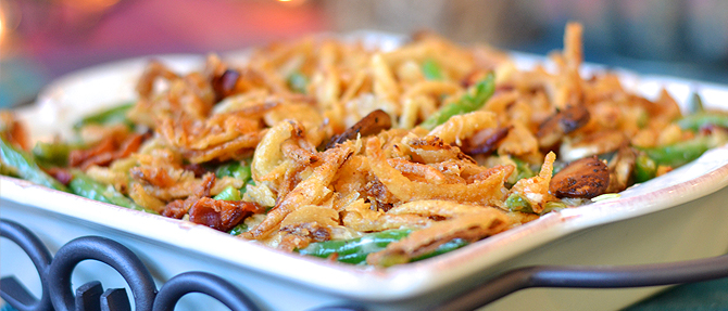 The Perfect Green Bean Casserole…with Bacon!