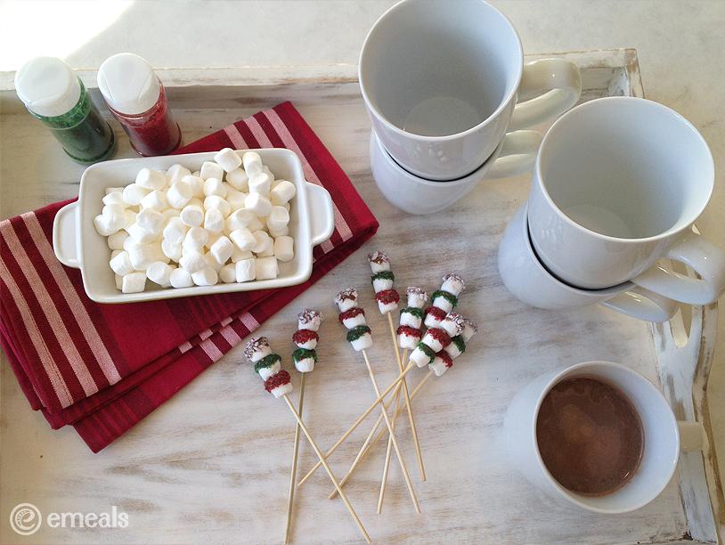 Chocolate-Dipped Marshmallow Snowmen | eMeals