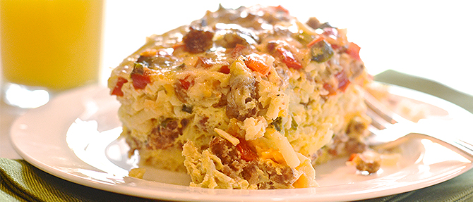 Christmas Morning Slow-Cooker Breakfast Casserole