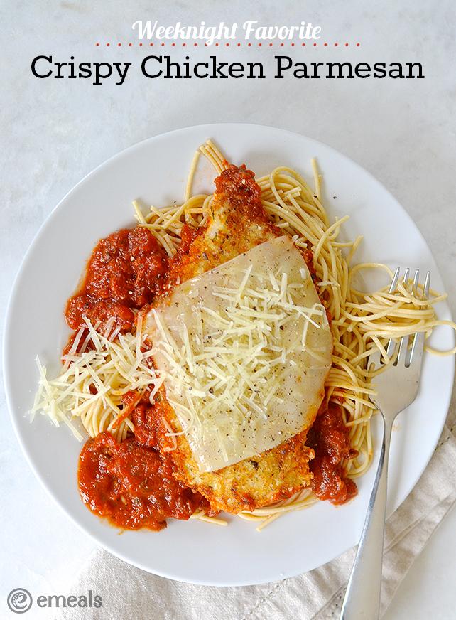 Easy Weeknight Meal: Crispy Chicken Parmesan | The eMeals Blog