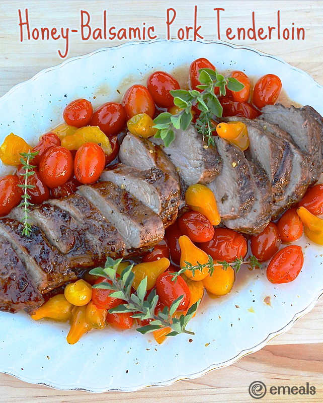 Honey-Balsamic Pork Tenderloin | eMeals #eMealsEats
