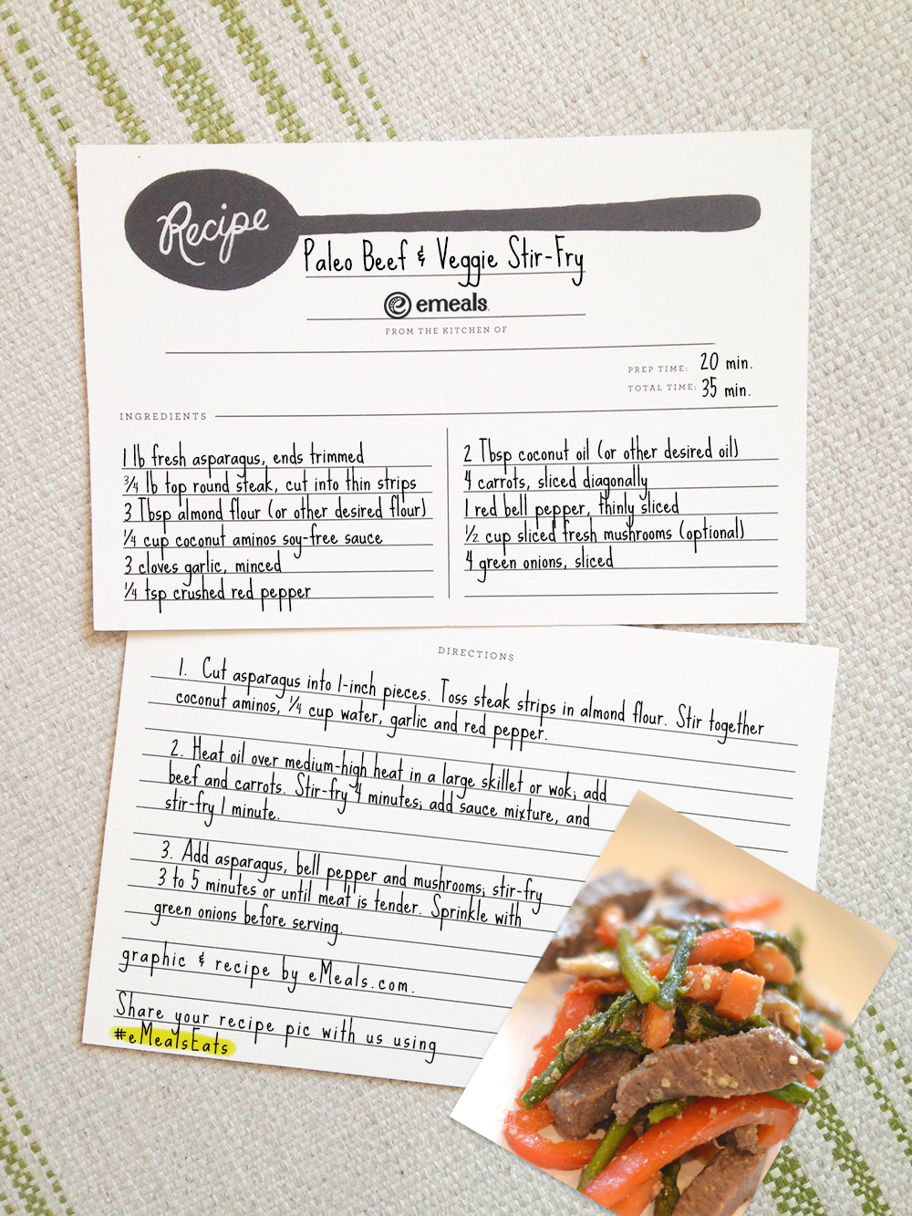 Paleo Lunch Recipe: Beef and Veggie Stir-Fry | eMeals #aldeskowitheMeals #eMealsEats
