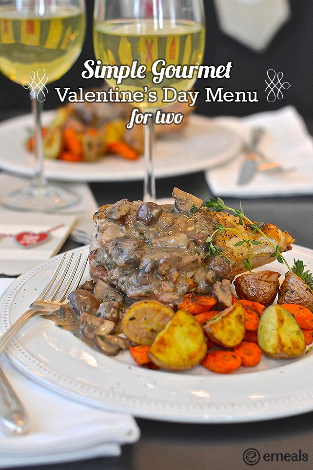 Valentine's Day Menu for Two | eMeals #eMealsEats