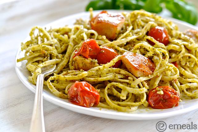 Chicken-Pesto Linguine | eMeals #eMealsEats