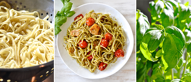 Chicken-Pesto Linguine