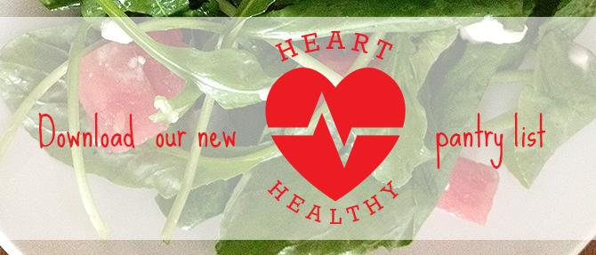 Free Heart-Healthy Pantry List Printable