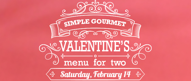 Valentine's Day Menu for Two