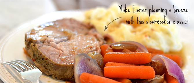 Slow-Cooker Pork Roast with Carrots and Red Onions
