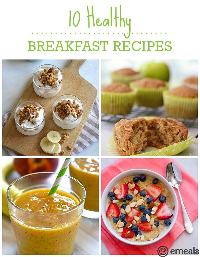 10 Healthy Breakfast Recipes | eMeals #eMealsEats