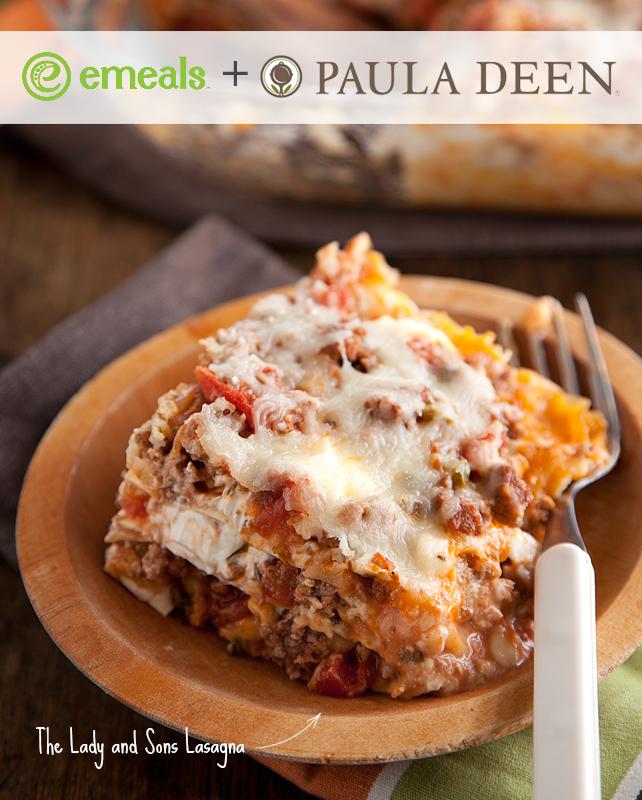 PAULA DEEN's famous Lasagna, via eMeals' Paula Deen meal plan | #eMeals