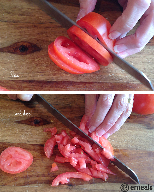 How to Seed a Tomato | eMeals #eMeals #kitchentip