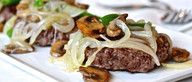 Veggie-Smothered Paleo Burgers