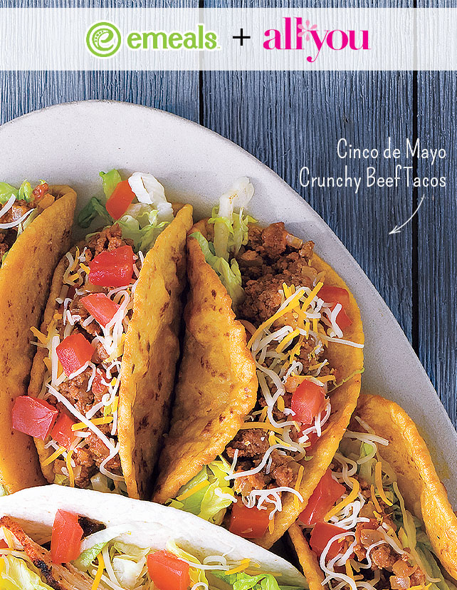 Cinco de Mayo Crunchy Beef Tacos from All You + eMeals | #eMealsEats
