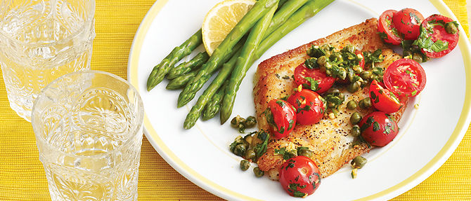 HEALTH's Sautéed Fish Fillets with Tomatoes and Capers