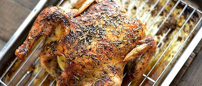 Cook Once, Eat Twice Rosemary Roasted Chicken