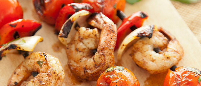 Memorial Day Menu Featuring Paula Deen's Jerk Shrimp Kabobs