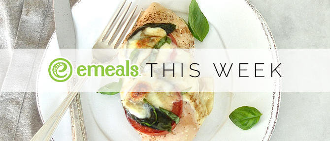On the Menu This Week: Baked Caprese Chicken