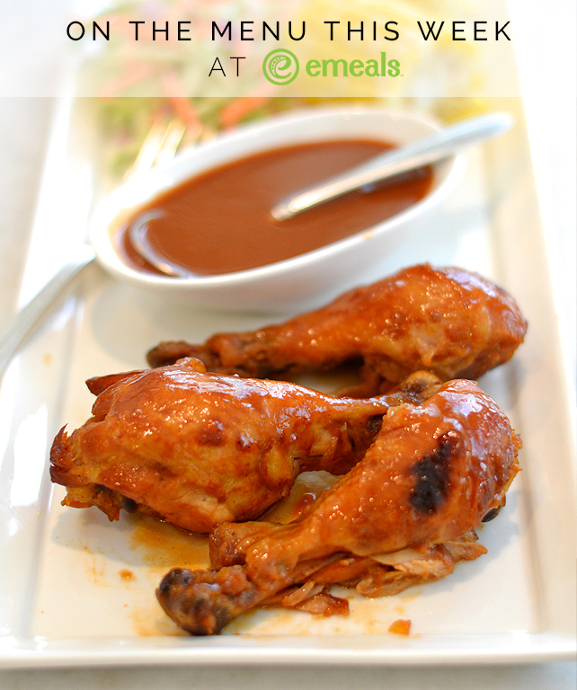 Peachy Barbecue Chicken Drumsticks from eMeals