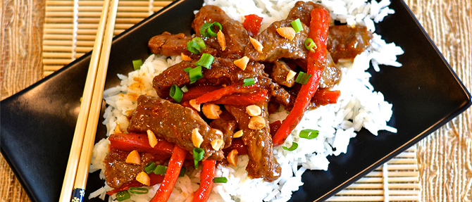 Superfast Peanutty Beef Stir-Fry