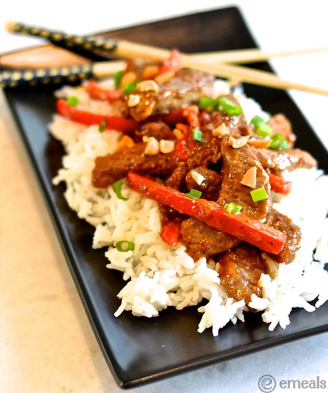 Peanutty Beef Stir-Fry from eMeals