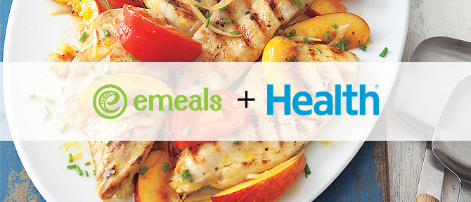 Grilled Chicken with Curried Peaches from HEALTH Magazine