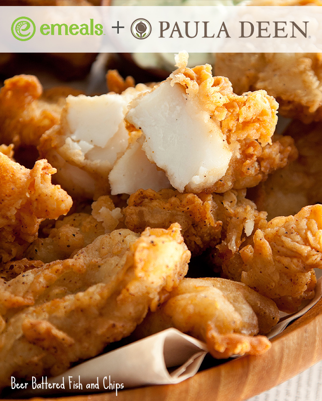 Paula deen s beer battered fish and chips the emeals blog for Beer battered fish and chips