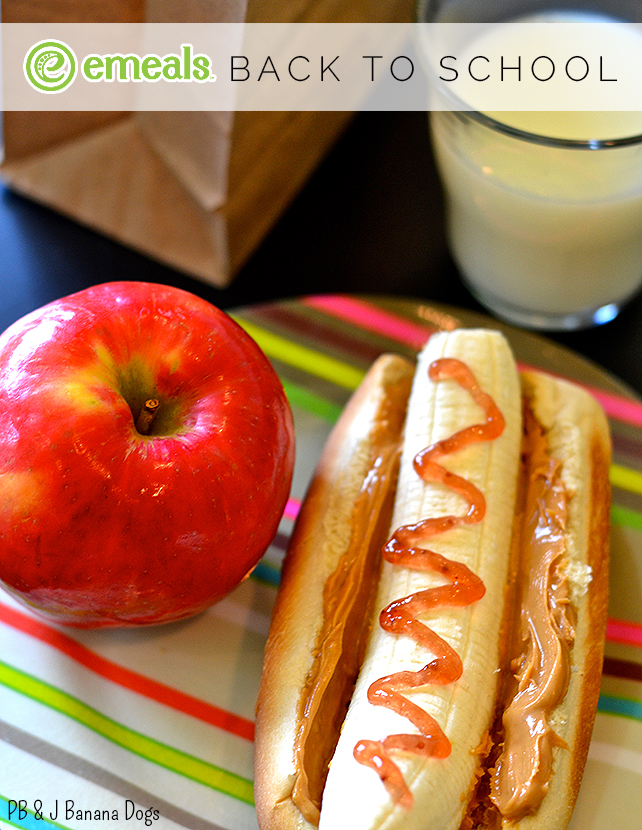 Back-to-School PB & J Banana Dogs from eMeals