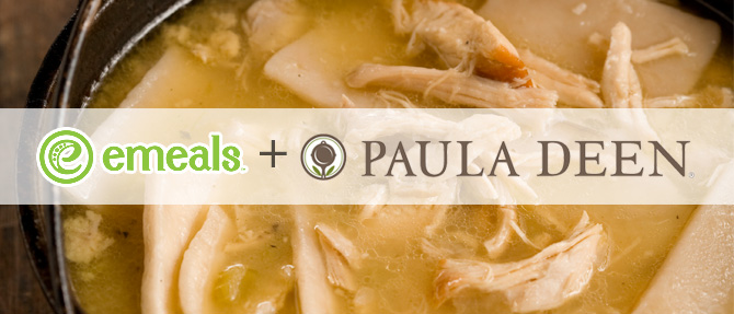 Chicken and Dumplings from eMeals + Paula Deen