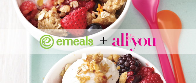Mixed Berry Crumble from eMeals + All You
