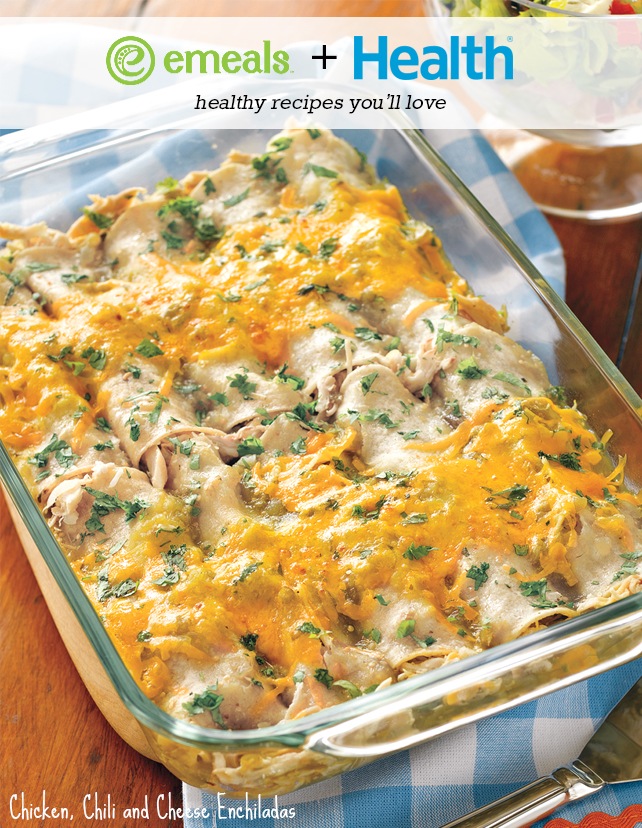 Chicken, Chili and Cheese Enchiladas from eMeals + HEALTH