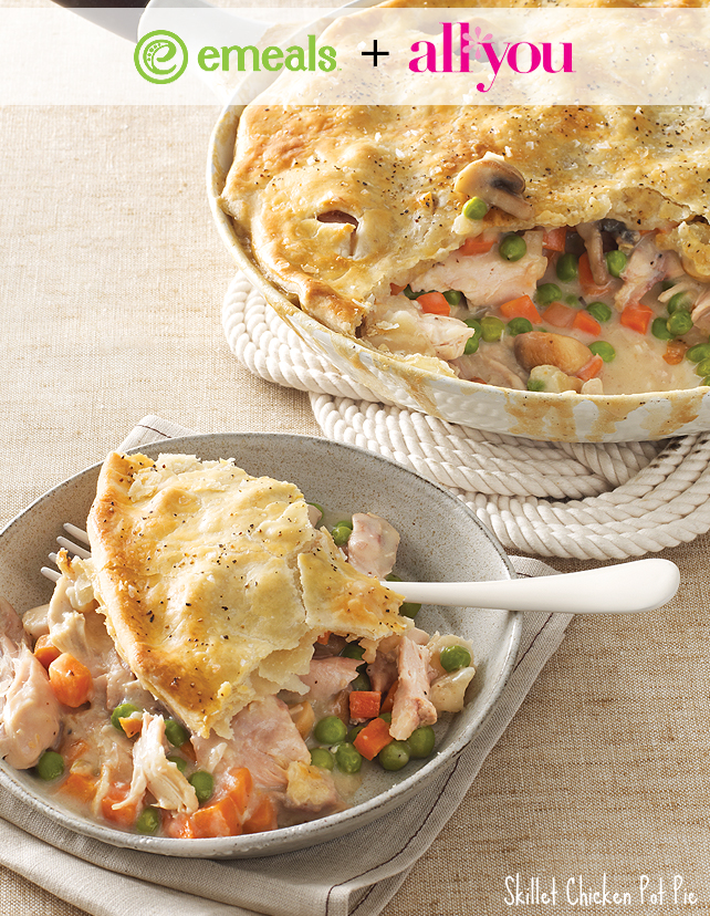 Skillet Chicken Pot Pie from eMeals + All You